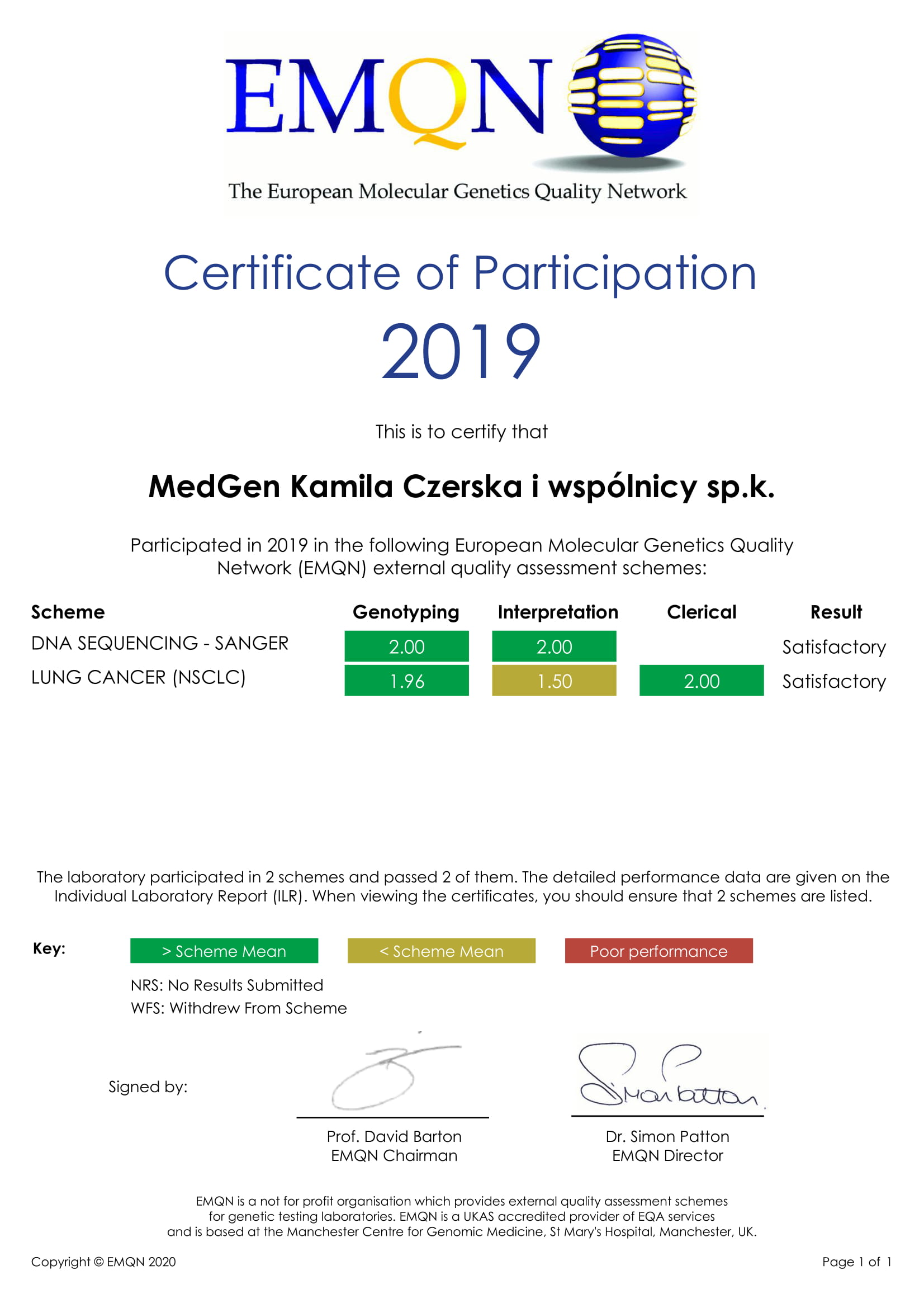 2019 EMQN Performance Certificates 1 1